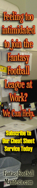Feeling too Intimidated to Join the Fantasy Football League at Work?  We can Help - FantasyFootballManifesto.com