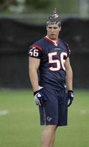 Brian Cushing Tin Foiled
